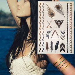 $enCountryForm.capitalKeyWord Australia - 2017 New Classic Bracelet Metallic Flash Tattoos, Beautiful Body Art Women Tattoo Stickers