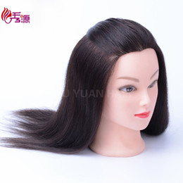 doll heads hair 2019 - 518 Type Natural Color 100% Real Human Hair Training Head Can Be Curled Dyed Bleached Hairdressing Mannequin Head Dolls