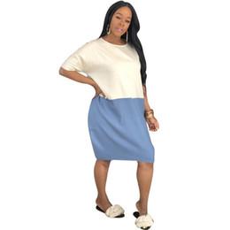 $enCountryForm.capitalKeyWord UK - Knees Length Casual Clothes For Summer Women Street Patchwork Short Ladies Lose Clothes Beach T Shirt Vestido Dress