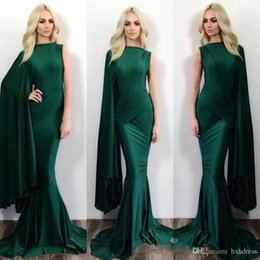 New Stylish Dress Pictures NZ - 2019 New Dark Green Mermaid Evening Dresses One Shoulder Stylish Formal Celebrity Party Wears Floor Length Prom Dresses 402