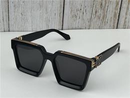 44bbc59728 2019 Nuevos hombres marca diseñador gafas de sol 96006 Millionaire marco  cuadrado vintage oro brillante verano UV400 lente estilo láser logo de  calidad ...
