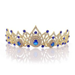 beauty crowns tiaras UK - Bridal Luxury Wedding Hair Accessories Women Vintage Style Shining Rhinestone Tiaras Crown Girls Pageant Prom Beauty Headpieces