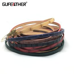 GUFEATHER P67 / 5MM / Diy PU-Lederband Bambus-Serie / Schmuckzubehör / Schmuckzubehör / Armband corde / 100-120CM