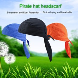 Discount cream wraps - Sport Outdoor Quick-Dry Bandana Adjustable Breathable Head Wrap Headwear Running Beanie Unisex Classic Pirate Headscarf