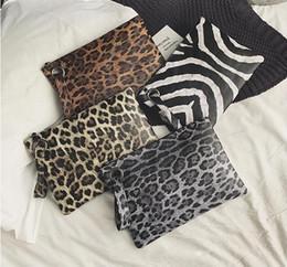 Leopard Print Clutch Evening Bag Australia - 30pcs New Clutch Bags Women PU Leopard Zebra Print Evening Cosmetic Bags Ladies Retro Zipper Handbag Coin Purses 4colors
