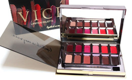 vice lipstick NZ - Vice Blackmail Lipstick 12 Colors Lip Gloss Palette Cream Lip Makeup Long Lasting Cosmetics Limited Edition Lip Gloss Palette