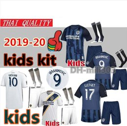 Youth Soccer Uniform Jerseys NZ - 19 20 MLS LA Galaxy kids kit Soccer Jerseys uniform 2019 2020 Los Angeles Galaxy IBRAHIMOVIC GIOVANI KAMARA youth kids football Shirt kit