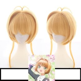 card captor cosplay NZ - Card Captor Sakura CLEAR CARD Kinomoto Sakura Cosplay Hair Wig Anime
