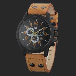 $enCountryForm.capitalKeyWord Australia - 1Vintage Classic Watches Men Waterproof Date Leather Strap Sport Quartz Army Sport Watch Male Hour Masculino