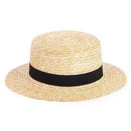 straw boaters NZ - Holiday Adult Beach UV Protection Summer Fashion Boater Wide Brim Travel Sailor Sunproof Casual Unisex Straw Hat