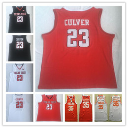red basketball jerseys NZ - Texas Tech 23 Jarrett Culver 35 Kevin Ncaa College Durant Jersey university Basketball Jerseys