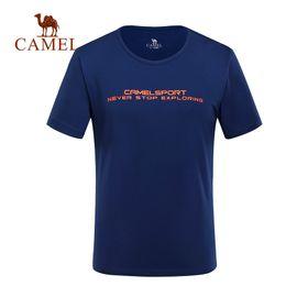 $enCountryForm.capitalKeyWord Australia - CAMEL Men Women Outdoor Quick Dry T-shirt Summer Breathable Soft Running Hiking Sport Casual Shirt O-neck Short-Sleeve Tops