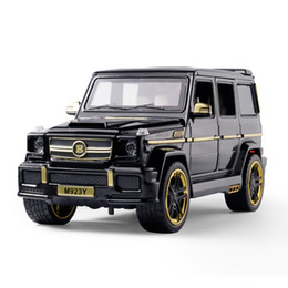 Die cast toys online shopping - G65 SUV Alloy Pull Back Model Car Model Toy Sound Light Pull Back Die cast Vehicles Play decoration