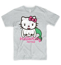 d645faf35 Hello Kitty Mermaid T Shirt Kawaii Unicorn Sexi Japanese Anime Frozen  Instagram Men Women Unisex Fashion tshirt Free Shipping
