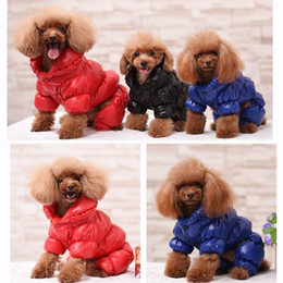 Dog Down Coat Jacket NZ - Winter Dog Down Clothes Large Dogs Warm Coats Waterproof Clothes For Small Dog Thickening Pet Dog Coat Jacket Puppy Chihuahua