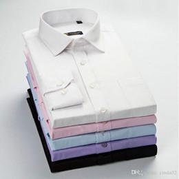 $enCountryForm.capitalKeyWord Australia - New arrival high quality classic twill business men's shirts long sleeve turndown collar plus size 5xl dress shirt