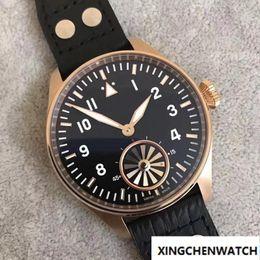 Men S Big Watch Australia - Wholesale - 2017 Top Quality Luxury Wristwatch Big Turbine Blue Black Dial Automatic Mechanical Men&039;s Watch 46MM Men Mens Watch Watches