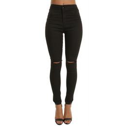 high waist jeans for girls fashion 2019 - 2019 Brand Women High Waist Jeans Sexy Skinny Fashion Jeans For Women Hole Vintage Girls Slim Ripped Denim Pencil Pants