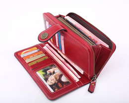 hot cell phone cases 2019 - free shipping Hot Sale Women Clutch Leather Wallet Female Long Wallet Women Zipper Purse Strap Money Bag Purse For iPhon