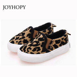 wide shoes children Australia - Spring Kids Shoes Boys Girls Casual Shoes Fashion Leopard Print Comfortable Canvas Shoes Children Sneakers Slip On Loafers Y19051303