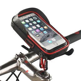 $enCountryForm.capitalKeyWord Australia - 6 Inch Bike Bicycle Waterproof Cell Phone Bag Holder Motorcycle Mount For Samsung Galaxy S8 Plus iphone X 7 8 Plus lg V20 mate 9 T190620