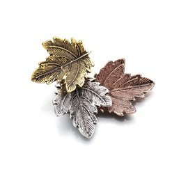 $enCountryForm.capitalKeyWord UK - Vintage Broches Mujer Pin Leaf Brooch Gold Color Brooches Pins Exquisite Collar For Women Dance Party Accessories b74