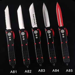 Knifes D2 Australia - CNC combat tactical knife 5 style with logo auto knife with dagger point automatic folding knife D2 blade aluminum handle double side blade