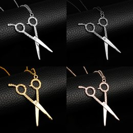 $enCountryForm.capitalKeyWord NZ - dongsheng 2018 Newest AB Metal Scissors Comb Hair salon Fashion Hairdresser Pendant 5 Colors Chain Necklace -30