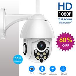 Ptz Cameras Home Australia - Outdoor 1080p PTZ Camera Wifi Security Camera Pan Tilt 5X Zoom IR Network CCTV Surveillance 720P