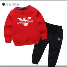 sports hoodie vest Australia - Autumn new boys and girls hoodies pants jacket jacket hoodie winter thick sweater shirt children's fashion sports suit 2--8 years old ni