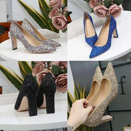 Shoes For Women Free Shipping Australia - 35-39 2019 fashion women shoes Glitter sequined Point toe thin heels High Heels Pumps Stilettos Shoes For Women Free shipping