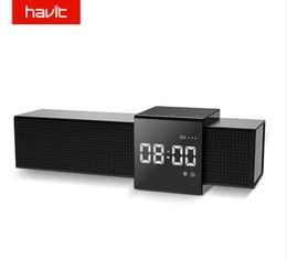 $enCountryForm.capitalKeyWord Australia - HAVIT-M28 Portable Bluetooth V4.1 Speaker 3D Stereo Wireless Speaker Audio Player with Time Display Clock Alarm Clock