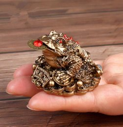 Fan Shopping Australia - 1pcs Chinese Fortune Frog Feng Shui Lucky Three Legged Money Toad Home Office Shop Business Decoration Craft Gift YLM9769