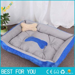 hot beds Australia - Hot Sale 2018 Warm Corduroy Padded Dog Bed Washable Pet House Mat Perros Soft Sofa Kennel Dogs Cats House For Large Dogs