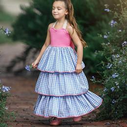 SuSpenderS for girlS 4t online shopping - Girls Dress Baby Big Bow Sling Skirt Princess Chequered Cake Skirt Cotton Dress for Children Pleated Skirt