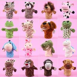 Fantoches de dedo de natal brinquedos de pelúcia tigre dos desenhos animados panda boneco de neve fantoche de mão presentes de natal veados stuffed animal novidade itens cca10774 36 pcs
