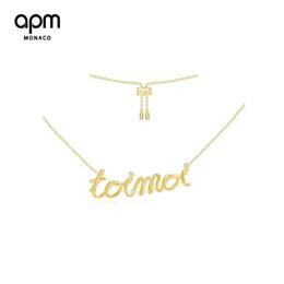 APM Monaco Brief Halskette weibliche Farbe Gold Schlüsselbein Kette erweiterte Sinne Schmuck Retro Hals Kette Anhänger Silber Brief Halskette im Angebot