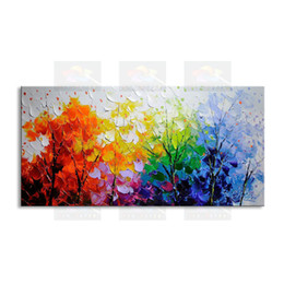 Original Oil paintings mOdern online shopping - hand painted modern living room decorative Landscape oil painting best Knife painting original directly from arti FJSH1