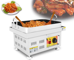 Table grill online shopping - Commercial Korean Fried Rice Cake Machine Desktop Electric Heating Teppanyaki Grill Table Korean Snack Rice Cake Machine