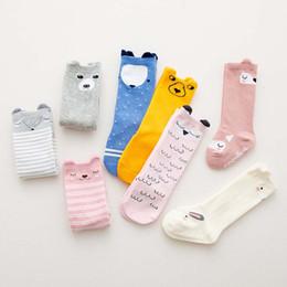 Discount cartoon clothes korean - Korean Cartoon Baby Socks 3D Animal Cotton Children Socks Baby Girls Cotton Sock kids Knit Knee High Socks kids designer