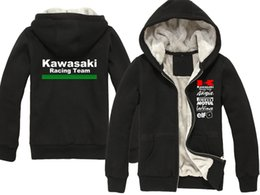 Motorcycle Jacket For Winter Australia - 2019 Winter New for Kawasaki Racing Team cotton jacket Men's casual hoodie Moto GP thick coat motorcycle sweatshirts