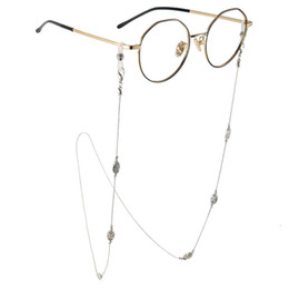 $enCountryForm.capitalKeyWord NZ - Flower Carved Beads Sunglasses Lanyard Strap Silver Metal Eyeglass Eyewears Glasses Chain Cord Holder Neck Ropes