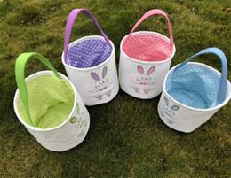 $enCountryForm.capitalKeyWord Australia - Easter Basket Canvas Easter Rabbit Baskets Bunny Ears Buckets Rabbit Tail Pail Latest Easter Eggs Hunt Bag Mixed Colors