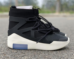 Discount cowboy boots With Box Air Fear of God 1 Boots Fashion Designer Shoes FOG Outdoor Boots Black Grey White Zoom Sneakers Size 5-12 free shippment
