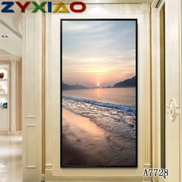 $enCountryForm.capitalKeyWord NZ - ZYXIAO Posters and Prints Performing scenery sunrise sea modern Oil Painting Canvas No Frame Wall Pictures for Living Room Home Decor A7728