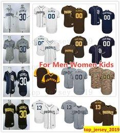 05653e08f San Diego Custom Padres 13 Manny Machado 30 Eric Hosmer 4 Wil Myers 18  Austin Hedges 7 Manuel Margot 10 Hunter Renfroe Jerseys