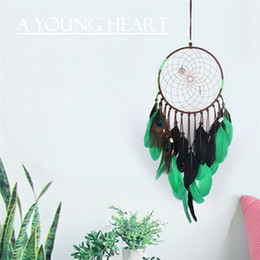 Wholesale New Dreamcatcher Wind Chimes Handmade Style Feather Pendant Dream Catcher Creative Car Hanging Decoration Epacket free