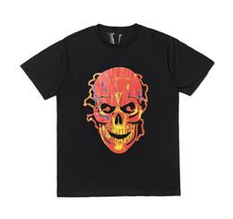 Skull print t Shirt online shopping - Letter V print Men T shirts New Men Women Couple T shirts Skull Short Sleeve Casual Tops Black Hip Hop Fashion Tee