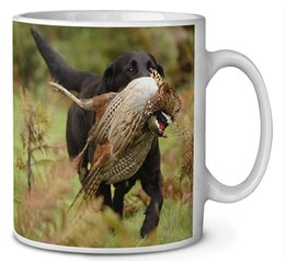 porcelain gift ideas Australia - Labrador and Pheasant Coffee Tea Mug Christmas Stocking Filler Gift Idea