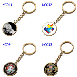 Car Sides Australia - 66 Styles Alloy Caring For Children Keychains Harry Potter Florida Car Keychains Time Gem Single Side Cartoon Games Bags Keychain